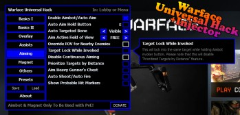 Скачать крутой чит для Warface Universal Hack[EU|RU] +Injector Xenos 2.2.0